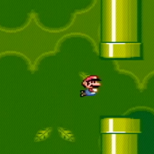 Flappy Bird in Super Mario World?