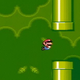 Flappy Bird in Super Mario World?
